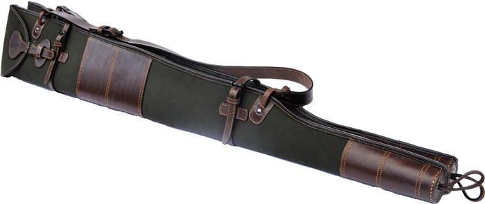LOGO_Canvas and leather twin shotgun slip