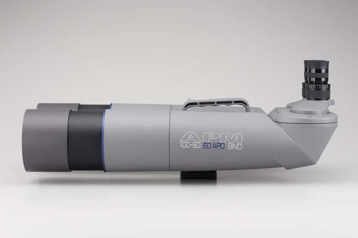 "LOGO_APM 100 mm 90° ED-Apo Fernglas mit 1,25"" Wechselokularaufnahme"