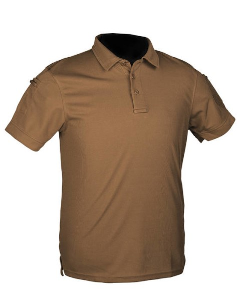 LOGO_TACTICAL QUICKDRY POLOSHIRT DARK COYOTE