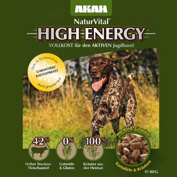 LOGO_AKAH dog food NaturVital HIGH ENERGY