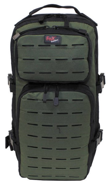 "LOGO_Backpack ""Assault-Travel"", Laser, black/OD green"