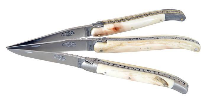 LOGO_Taschenmesser mit ziselierter Biene - Warzenschwein