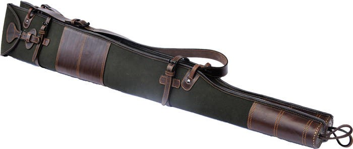 LOGO_Canvas and leather twin shotgun slip
