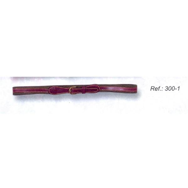 LOGO_Ledergürtel, gefüttert, 3 cm. breit
