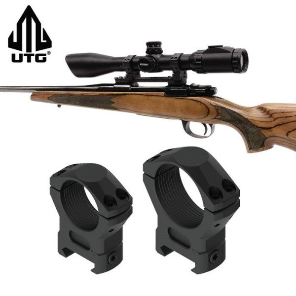 LOGO_UTG Steel and Integral Offset Picatinny Scope Rings