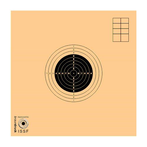 LOGO_Wettkampfscheibe für Luftgewehr und Armbrust, international