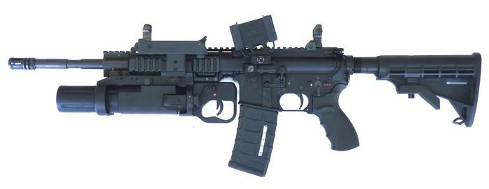 LOGO_Rifle LA-16 with 40 mm grenade launcher