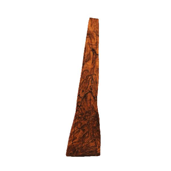 LOGO_Walnut gunstock blank for a carabine rifle