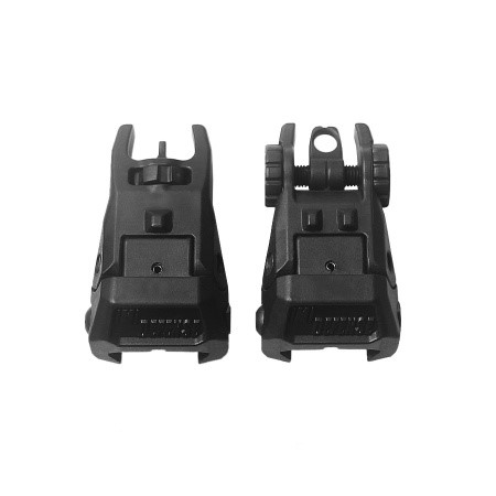 LOGO_TFS Rear & Front Polymer Flip Up Sight