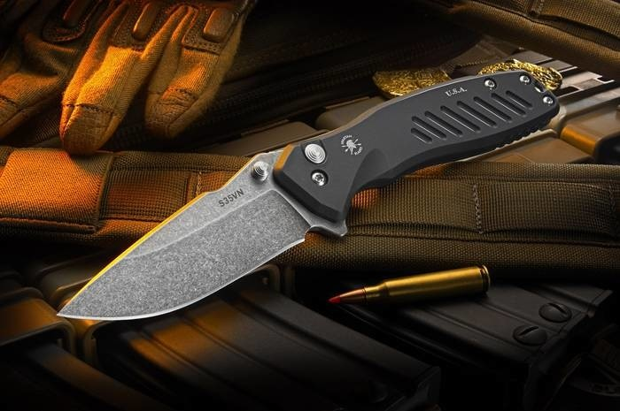 LOGO_PALLAS Button Lock Folding Knife