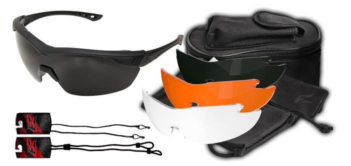LOGO_Overlord Kit – Schwarz matter Soft-Touch Rahmen / Klar Vapor Shield, Tiger's Eye Vapor Shield, G-15 Vapor Shield, Polarisierter Graduierter Rauch Gläse