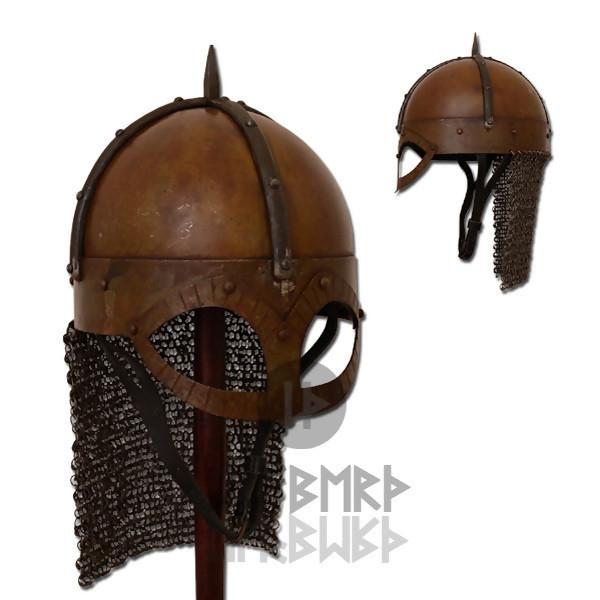 LOGO_Der Gjermundbu Helm mit vernieteter Brünne