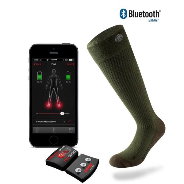 LOGO_set of heat sock 3.0 green + lithium pack rcB 1200
