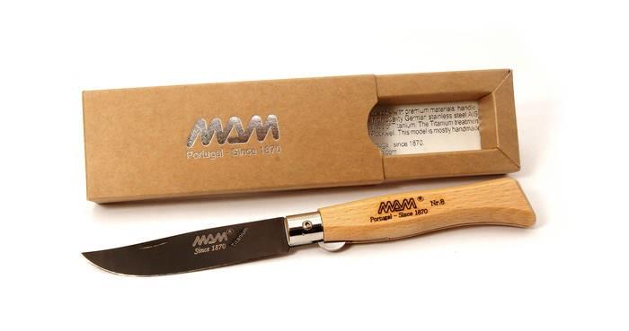 LOGO_Pocket knife with Black Titanium blade