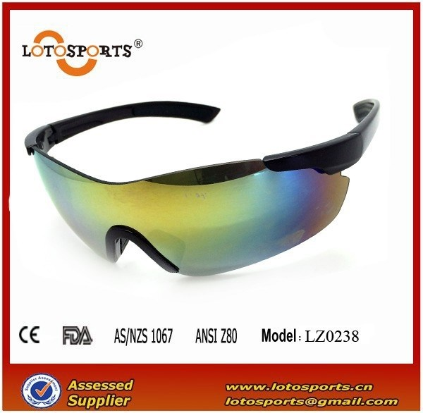 LOGO_Xiamen sunglasses sports glasses one piece bicycle glasses colorful revo sunglasses