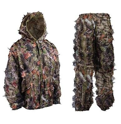 LOGO_3D Leafy camo hunting suit