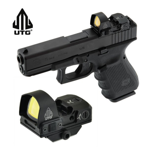 LOGO_UTG Micro Reflex Sight with 4 MOA Green Single Dot