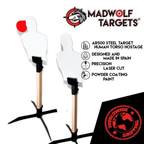 LOGO_Steel Target Human Torso Hostage. Tactical Training, Police Training, Military Training Target