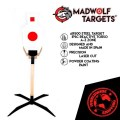 LOGO_Steel Target Reactive IPSC Zone A-C. Tactical Training, Military Training, Police training target