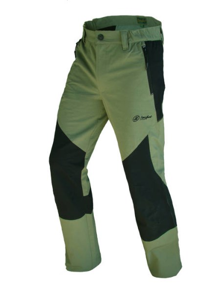 LOGO_KHAKI/BLACK TROUSERS:Trouser for mild weather conditions, plush lining, preshaped knees, adjustable hems, warm and resistant, 93% poliamida, 7% elastane, 250gr