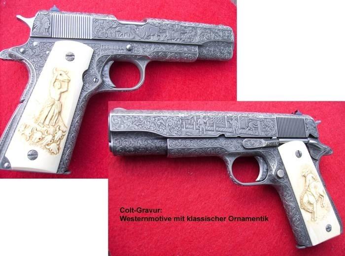 LOGO_Colt-Gravur mit Westernmotiven