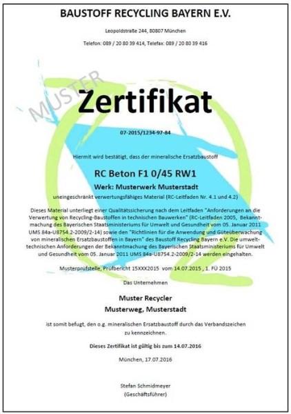 LOGO_Zertifizierung von Recyclingbaustoffen