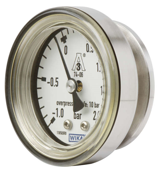 LOGO_Compact pressure gauge with dry measuring cell for sanitary applications