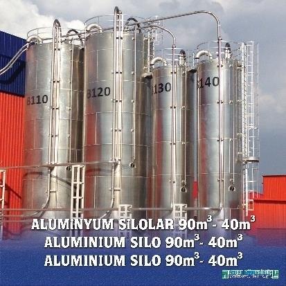 LOGO_Silo aus Aluminium, Edelstahl