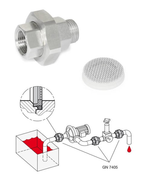 LOGO_Stainless Steel-Strainer fittings GN 7405