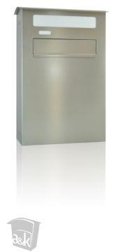LOGO_Firmenbriefkasten - Durchwurfbriefkasten extra groß - Edelstahl geschliffen