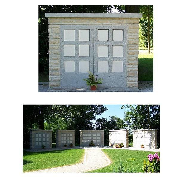 LOGO_Urnenbauwerke Ausführung: Natursteinverblendung