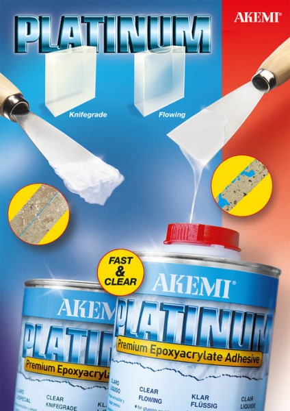 LOGO_PLATINUM – Premium Marble Filler based on epoxy-acrylate - Clear-transparent, rapid and strong!
