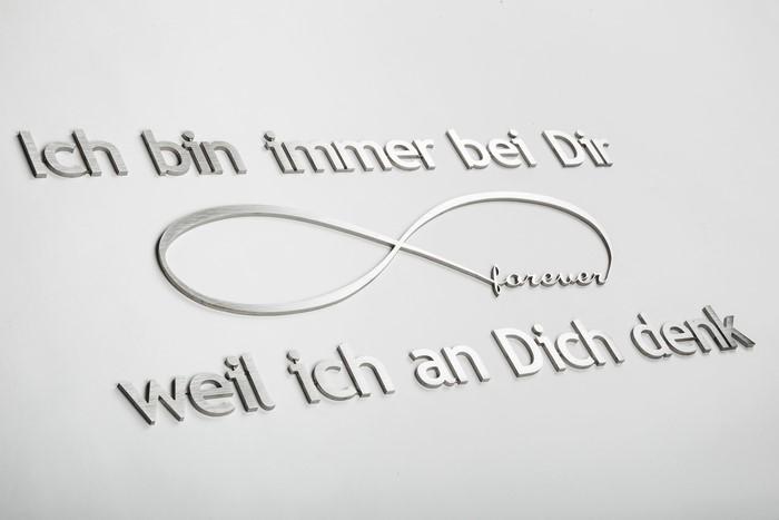 LOGO_Text aus Edelstahl