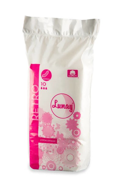 LOGO_LUNAY - 100 % COTTON SANITARY PADS - RETRO