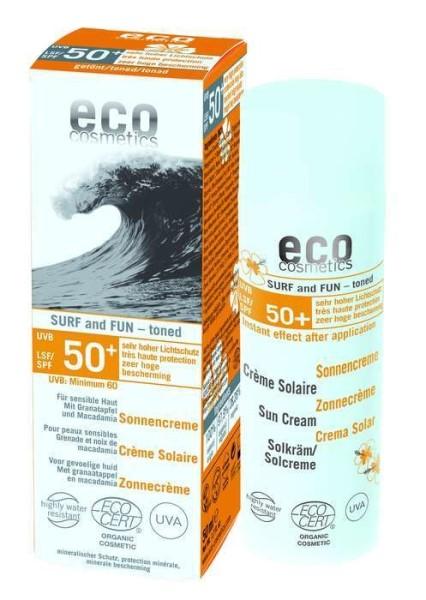 LOGO_Sonnencreme LSF 50+ SURF & FUN getönt 50ml Mit Granatapfel und Macadamia