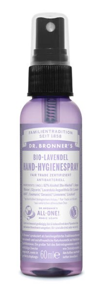 LOGO_Dr. Bronner's Fair Trade & Organic Lavender Hand Sanitizing Spray