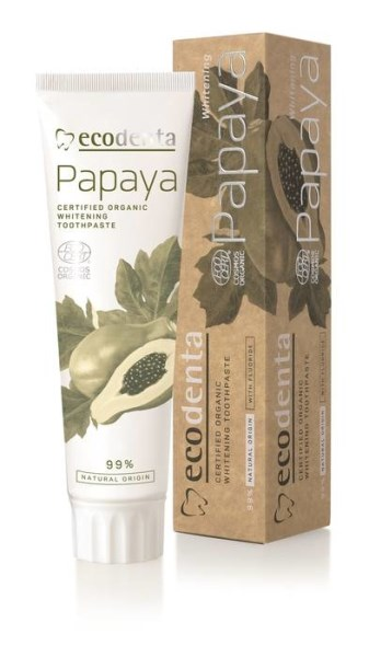 LOGO_ECODENTA COSMOS ORGANIC Whitening toothpaste with papaya extract 100 ml
