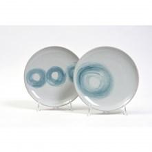LOGO_2 pz. Piatto piano NIDO in ceramica