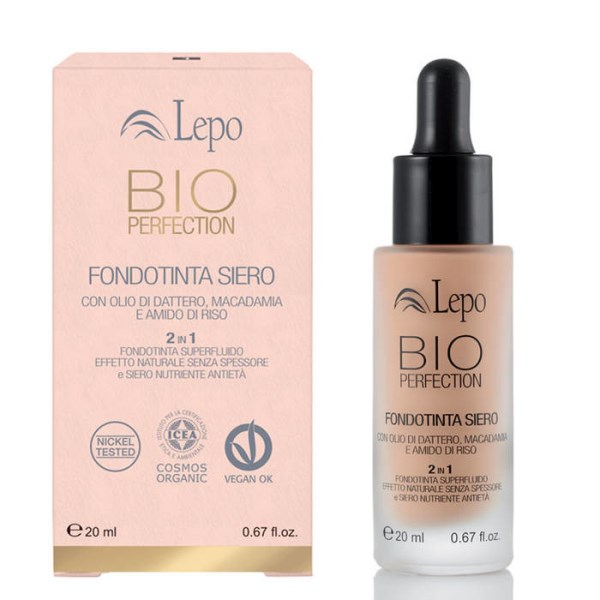 LOGO_BIO PERFECTION SERUM FOUNDATION with date, macadamia oils and rice starch
