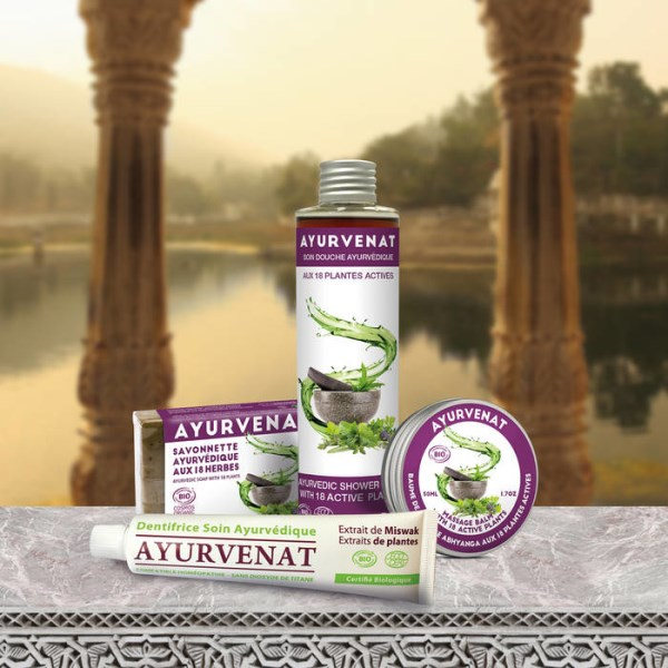 LOGO_Ayurvenat soap with extracts from 18 plants