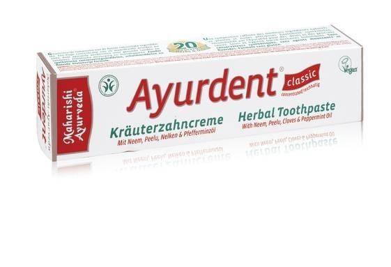 LOGO_Ayurdent Zahncreme Classic, 75 ml, COSMOS Natural, vegan