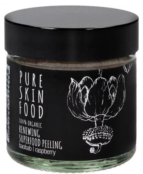 LOGO_PURE SKIN FOOD: 100% Organic Superfood-Peeling baobab | raspberry
