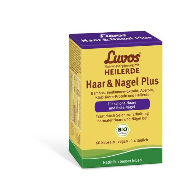 LOGO_Luvos Hair & Nails Plus _ Organic Food Supplement with Healing Earth