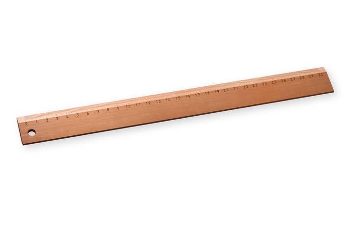 LOGO_Lineal 30 cm, mit gravierter Skala