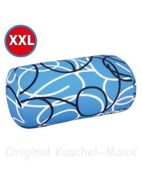 LOGO_Kuschel-Maxx - Linien Blau XXL