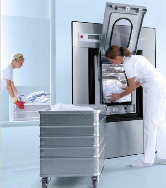 LOGO_Die professionellen Flügeltürer: Miele Hygiene-Waschmaschinen in Trennwandausführung