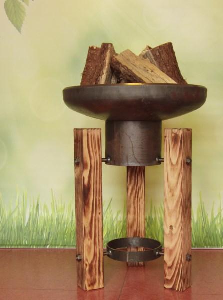 LOGO_Feuerschale mit Holzfüßen